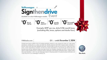 Volkswagen Sign Then Drive Event TV Spot, 'The Holiday Season is Here' - Thumbnail 10