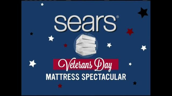 Sears Veterans Day Mattress Spectacular TV Spot, 'Find Your Sleep Solution'