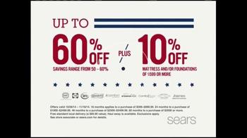 Sears Veterans Day Mattress Spectacular TV Spot, 'Find Your Sleep Solution' - Thumbnail 2