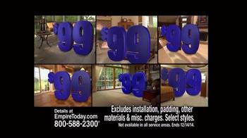 Empire Today $99 Room Sale TV Spot, 'Huge Sale' - Thumbnail 6