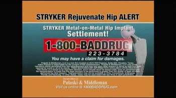 Pulaski & Middleman TV Spot, 'Hip Implant Alert' - Thumbnail 10