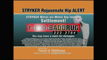 Pulaski & Middleman TV Spot, 'Hip Implant Alert' - Thumbnail 9