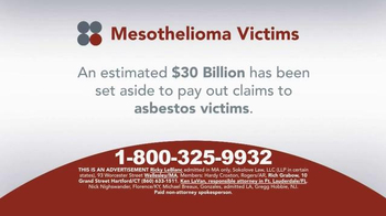 Sokolove Law TV Spot, \'Mesothelioma Victims and Family\'