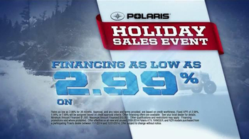 Polaris Holiday Sales Event TV Spot, 'Off-Road Vehicles' - Thumbnail 4