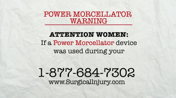 AkinMears TV Spot, 'Power Morcellator Warning' - Thumbnail 1