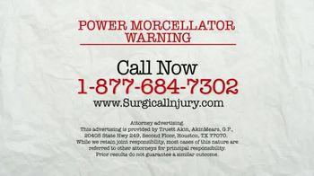 AkinMears TV Spot, 'Power Morcellator Warning'