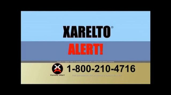 Xarelto Alert Helpline TV Spot, 'Xarelto Warning' - Thumbnail 1