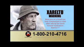 Xarelto Alert Helpline TV Spot, 'Xarelto Warning'