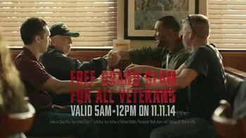 Denny's Grand Slam TV Spot, 'Veterans Day' - 772 commercial airings
