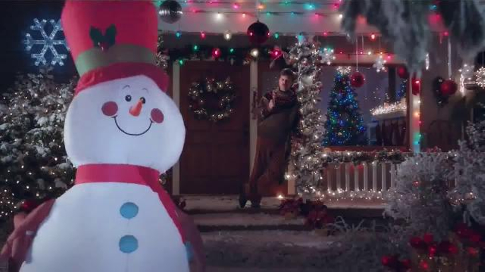 lowes tv commercial how to make a snowman while eating a turkey leg ispottv