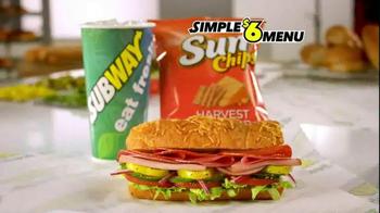 Subway Simple $6 Menu TV Spot, 'Value Made Simple' - Thumbnail 3