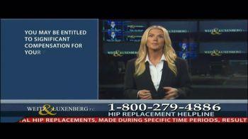 Weitz and Luxenberg TV Spot, 'Hip Replacement Legal Alert'