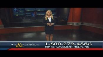 Weitz and Luxenberg TV Spot, 'Hip Replacement Legal Alert' - Thumbnail 1