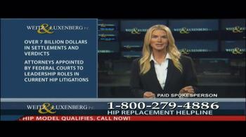 Weitz and Luxenberg TV Spot, 'Hip Replacement Legal Alert' - Thumbnail 10