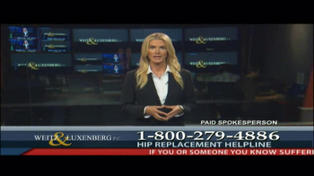 Weitz and Luxenberg TV Spot, 'Hip Replacement Legal Alert' - Thumbnail 2
