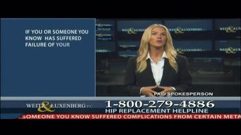 Weitz and Luxenberg TV Spot, 'Hip Replacement Legal Alert' - Thumbnail 3