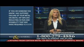 Weitz and Luxenberg TV Spot, 'Hip Replacement Legal Alert' - Thumbnail 4