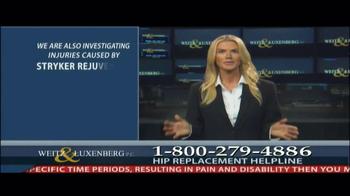 Weitz and Luxenberg TV Spot, 'Hip Replacement Legal Alert' - Thumbnail 6