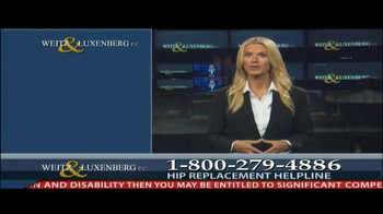 Weitz and Luxenberg TV Spot, 'Hip Replacement Legal Alert' - Thumbnail 7