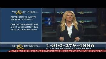 Weitz and Luxenberg TV Spot, 'Hip Replacement Legal Alert' - Thumbnail 8