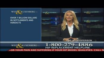 Weitz and Luxenberg TV Spot, 'Hip Replacement Legal Alert' - Thumbnail 9