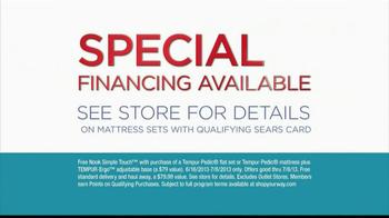 Sears July Fourth Appliance Event TV Spot, 'Tempur-Pedic' - Thumbnail 8