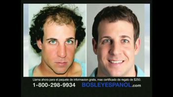 Bosley TV Spot [Spanish]