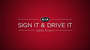 Kia Sign It, Drive It Sales Event TV Spot - Thumbnail 9