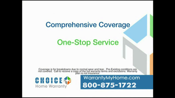 Choice Home Warranty TV Spot, 'Comprehensive Coverage' - Thumbnail 2