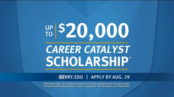 DeVry University Career Catalyst Scholarship TV Spot, 'Now's the Time' - Thumbnail 7