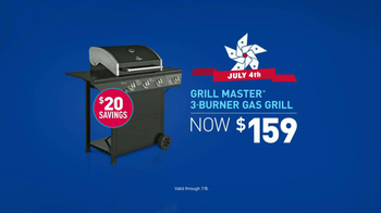 Lowe's TV Spot, 'Fourth of July Grill Master 3-Burner Gas Grill' - Thumbnail 9