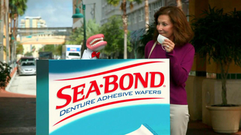 Sea Bond Adhesive Wafers TV Spot, 'Lose Ooze' - Thumbnail 9