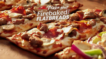 Pizza Hut Firebaked Flatbreads TV Spot - 2285 commercial airings