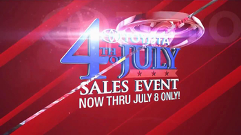 Toyota Fourth of July Sales Event TV Spot - Thumbnail 2
