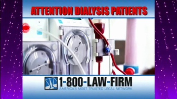 1-800-LAW-FIRM TV Spot, 'Dialysis' - Thumbnail 1