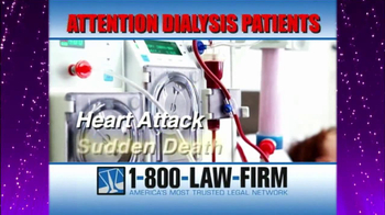 1-800-LAW-FIRM TV Spot, 'Dialysis' - Thumbnail 5