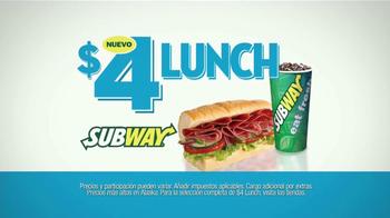 Subway $4 Lunch TV Spot [Spanish] - Thumbnail 1