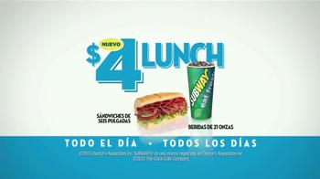 Subway $4 Lunch TV Spot [Spanish] - Thumbnail 8