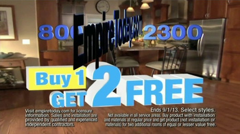 Empire Today TV Spot, 'Buy One, Get Two Free' - Thumbnail 5