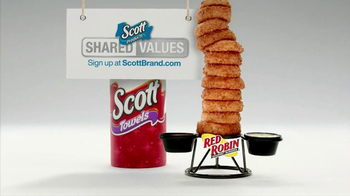 Scott Towels TV Spot, 'Red Robin Onion Rings Tower'