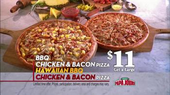 Papa John's BBQ Chicken & Bacon Pizza TV Spot - Thumbnail 6