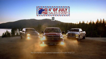 Ram Trucks Fourth of July Sales Event TV Spot - 132 commercial airings