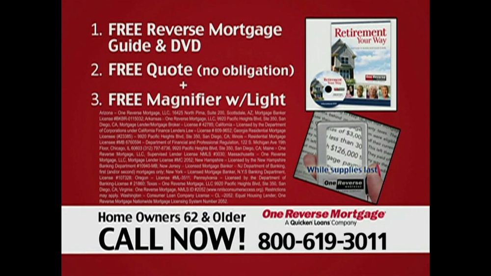 One Reverse Mortgage TV Commercial, 'Home' - Video