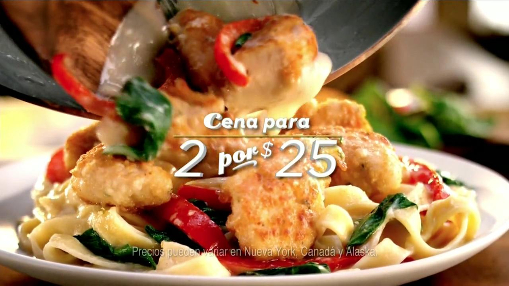 Olive Garden Cena para 2 por 25 Commercial Televisivo iSpottv