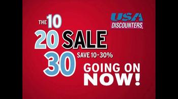USA Discounters The 10, 20, 30 Sale TV Spot - Thumbnail 7