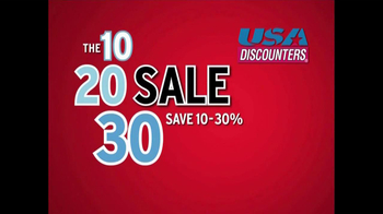 USA Discounters The 10, 20, 30 Sale TV Spot - Thumbnail 1