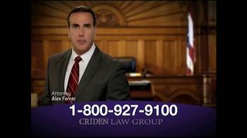 Criden Law Group TV Spot, 'Xarelto and Eliquis' - Thumbnail 2