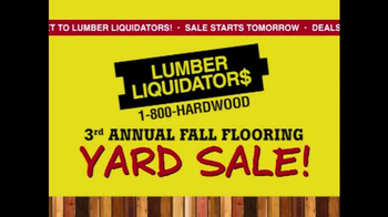 Lumber Liquidators 3rd Annual Fall Flooring Yard Sale TV Spot, 'Deals' - Thumbnail 10