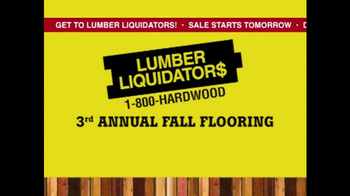 Lumber Liquidators 3rd Annual Fall Flooring Yard Sale TV Spot, 'Deals' - Thumbnail 2