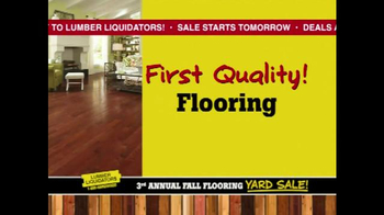 Lumber Liquidators 3rd Annual Fall Flooring Yard Sale TV Spot, 'Deals' - Thumbnail 3